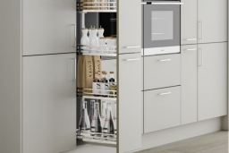 Larder and pull out drawer storage