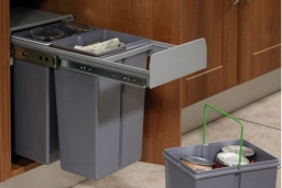 Internal recycle/waste bin
